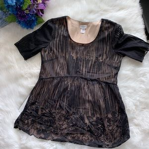 Motherhood Maternity Black Lace Blouse